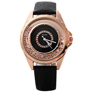 KEZZI K - 742 Women Quartz Watch Artificial Diamond Dial Wristwatch -  BLACK
