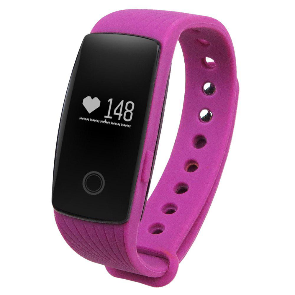 ID107 Smart Watch with Heart Rate Monitor Pedometer Remote Camera Function - PURPLE