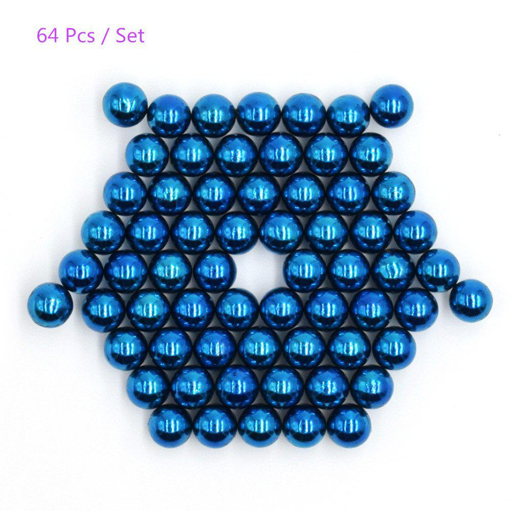 5mm Round Shape Magnetic Ball Puzzle Novelty Toy for DIY - 64Pcs new style 432pcs mini 3mm diameter magnetic ball sphere neodymium puzzle ndfeb novelty toy for kids children