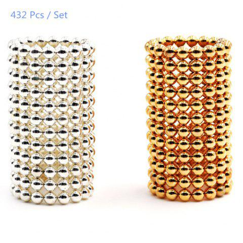3mm Round Shape Magnetic Ball Puzzle Novelty Toy for DIY - 432Pcs - SILVER/GOLDEN