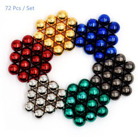 5mm Round Shape Magnetic Ball Puzzle Novelty Toy for DIY - 72Pcs - COLORMIX