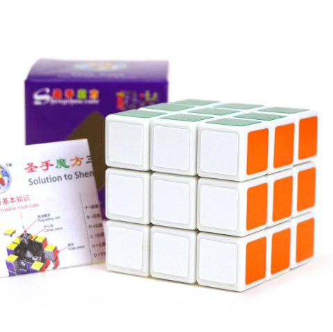 Shengshou Cube Aurora Magic Cube White Base Fun Educational Toy - COLORMIX
