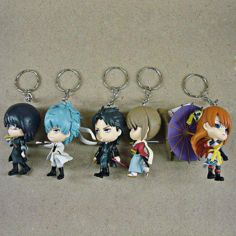 6 - 8cm Height 5 / Set GINTAMA Key Chain Fun Decoration - COLORMIX