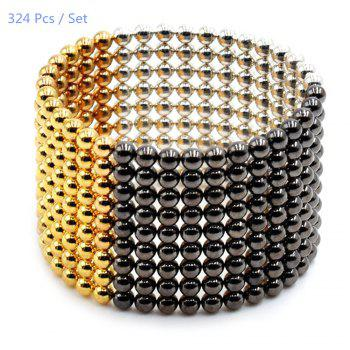 3mm Round Shape Magnetic Ball Puzzle Novelty Toy for DIY - 324Pcs