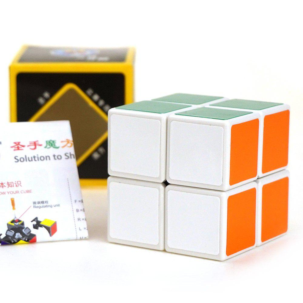 Shengshou Cube 2 x 2 x 2 Mini Blanc Cube Base de Jouet Educatif Amusement - multicolorcolore