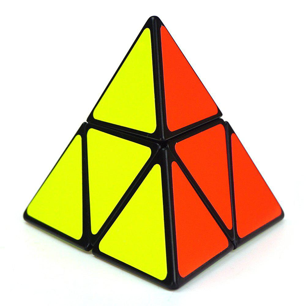 Shengshou Cube 9.8cm Side Pyraminx Mix-color Base Fun Educational Toy shengshou cube 2 x 2 x 2 mini cube black base fun educational toy