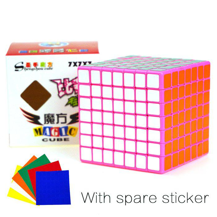 Shengshou Cube Glossy 7 x 7 x 7 V-Cube 7 Pink Base Fun Educational Toy wella sp шампунь для окрашенных волос с комплексом microlight 3d 1 л