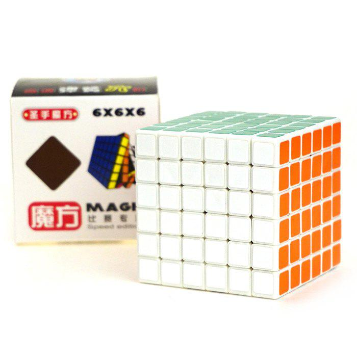 Shengshou Cube Glossy 6 x 6 x 6 V-Cube 6 White Base Fun Educational Toy 100% new and original for seiko and konica sub tank cartridges with sensor uv
