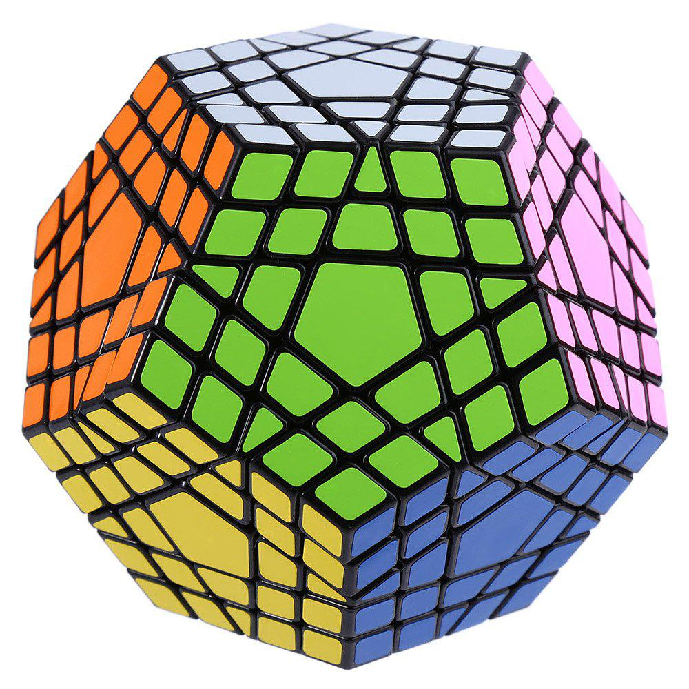 Shengshou Cube 7115A 5 x 5 x 5 Gigaminx Fun Educational Toy Black Base