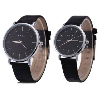 KEZZI K - 738 Couple Quartz Watch Classic Round Dial Watchwrist