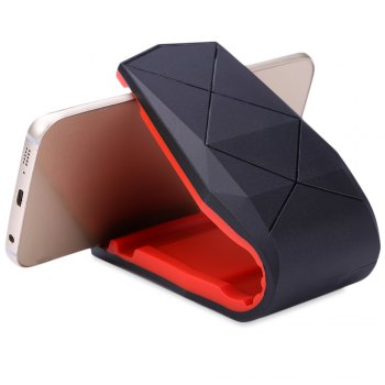 Practical Car Dashboard Mobile Alligator Clip Vehicle Mounted Phone Stand Holder - RED