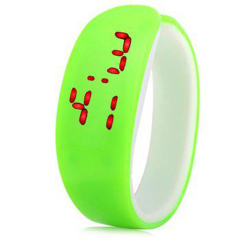 Jijia Red Subtitle Date Display LED Watch Candy Color Dolphin Shape Dial - PINK