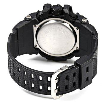Alike AK15116 Dual Movt Day Date Display World Time LED Sports Watch Water Resistance - ORANGE