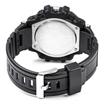 Alike AK15117 Dual Movt Day Date Display LED Sports Watch PU Strap - BLACK