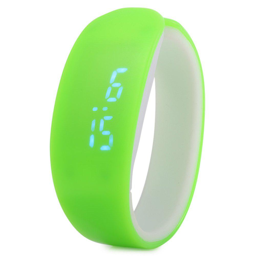 Jijia Blue Subtitle Date Display LED Watch Candy Color Dolphin Shape Dial - LIGHT GREEN