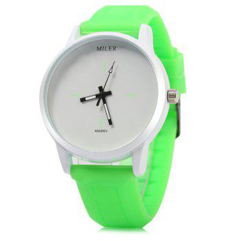 MILER A503902 Candy Colors Male Quartz Watch with Rubber Band