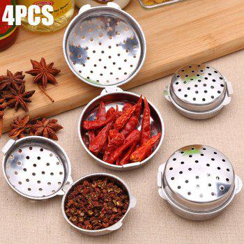 4PCS Stainless Steel Seasoning Filter Multi-functional Spice Infuser