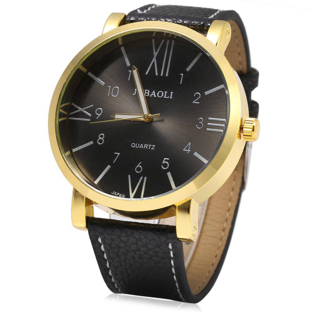 JUBAOLI 1097 Male Japan Quartz Watch Genuine Leather Band