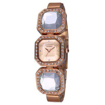 WeiQin W4202 Diamond Scale Female Quartz Watch Acylic Crystal Decoration