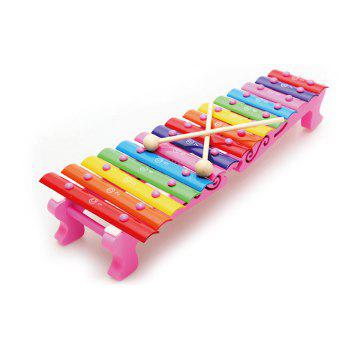 Wooden Hand Struck Xylophone Wonderful Rhythm with 15 Notes Educational Toy