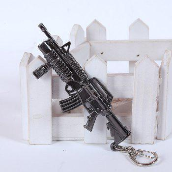 12cm Key Chain Sniping Rifle Hanging Pendant Metal Keyring for Bag Decoration - BLACK GREY SNIPING RIFLE 2