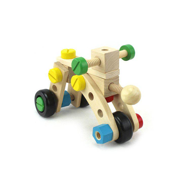 DIY Wooden Car Intelligence Assemble Model for Baby Early Learning Educational Toy jaheertoy montessori early childhood educational wooden toys geometric assembling blocks baby shape cognition teaching aid