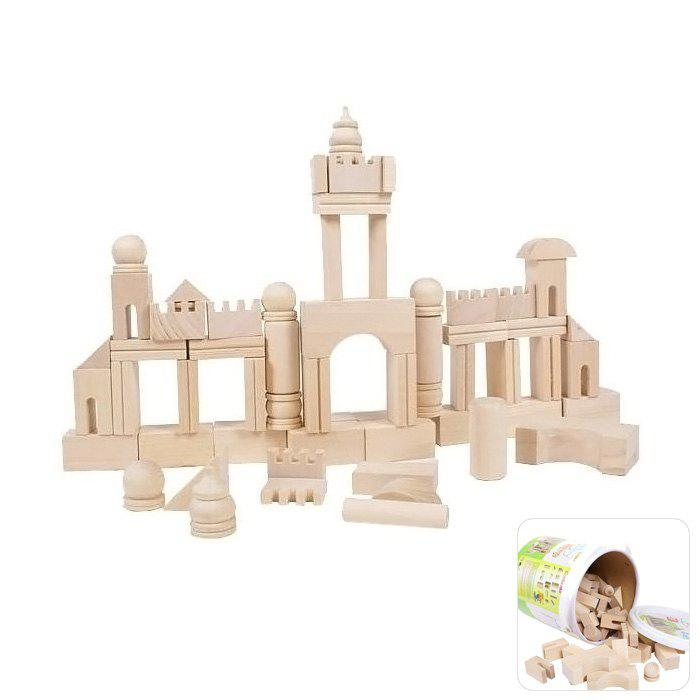 65Pcs Wooden Building Block DIY Assemble Puzzle Educational Toy qiaoletong firefighting military construction girl police 4 pcs 12 models lot building block sets educational diy bricks toys