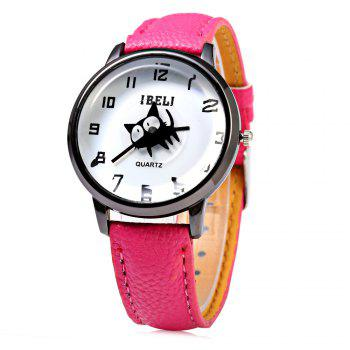 IBELI 802 Quartz Watch Black Cat Second Dial Arabic Numerals for Women
