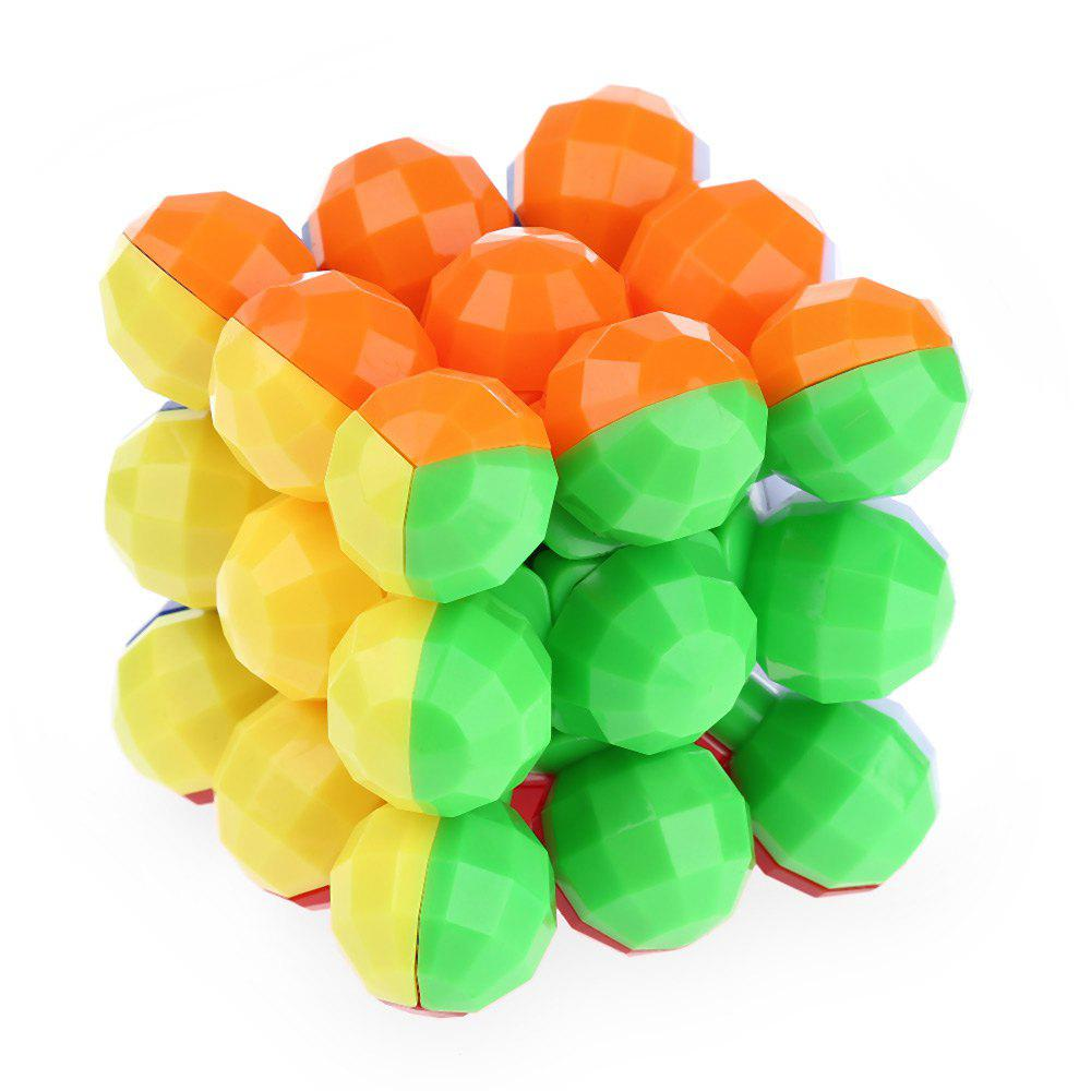 Balls Style Magic Cube Style 3 x 3 x 3 Colorful Cool Brain Teaser Educational ToyHome<br><br><br>Color: COLORMIX