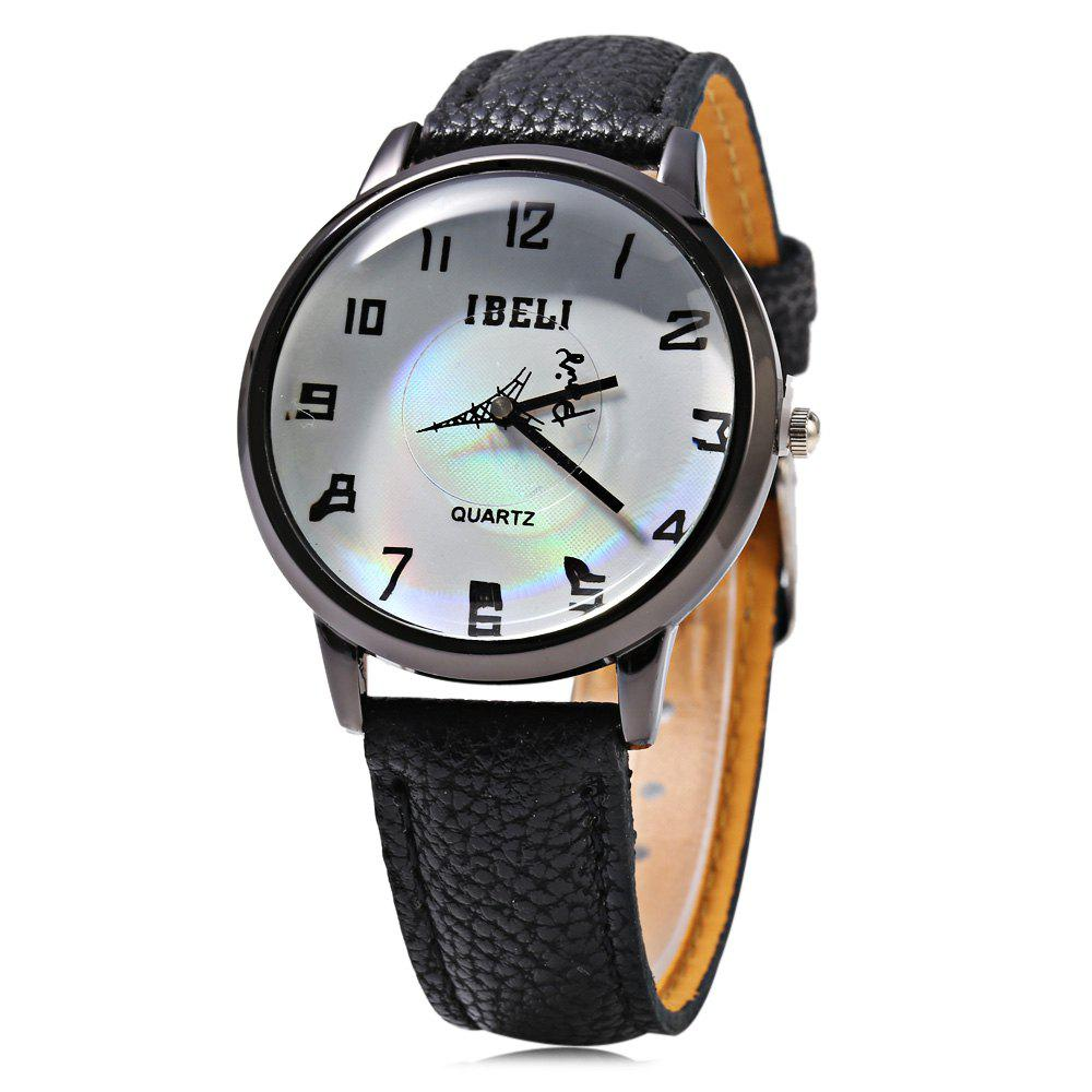 IBELI 807 Quartz Watch Eiffel Tower Second Dial Arabic Numerals for Women - BLACK