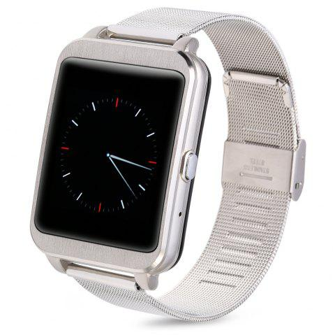 i95 Android 4.3 Bluetooth 4.0 Smart Watch with WIFI IP65 Heart Rate Monitor - SILVER / METAL BNAD