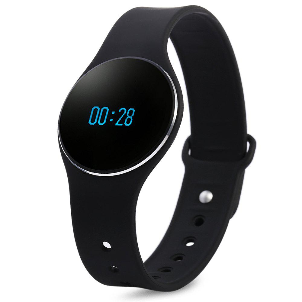 L16 Smart Bracelet Watch Bluetooth 4.0 SMS Reminder Sleep Tracker Calorie Burning for Sports - BLACK