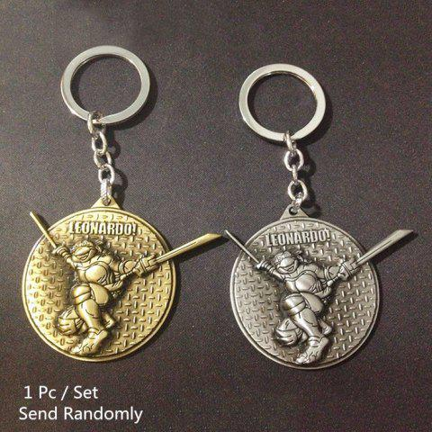 Key Chain Metal Turtle Style Hanging Pendant Keyring Movie Product for Key Bag Decoration - COLORMIX