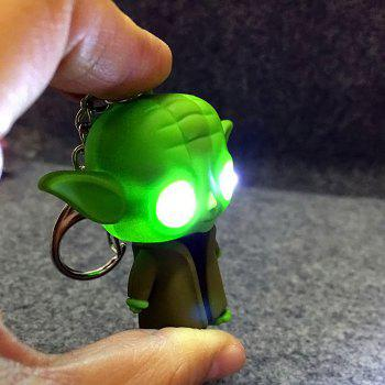 ABS Master Key Chain Hanging Pendant Movie Product Voice LED Light Control Bag Decoration - GREEN GREEN