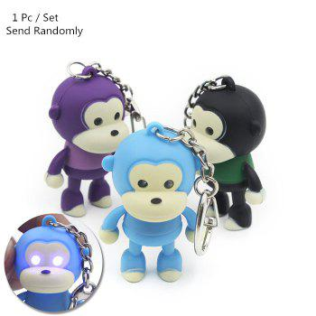 ABS Monkey Shape Key Chain Hanging Pendant Movie Product Voice Light Control Key Bag Decoration