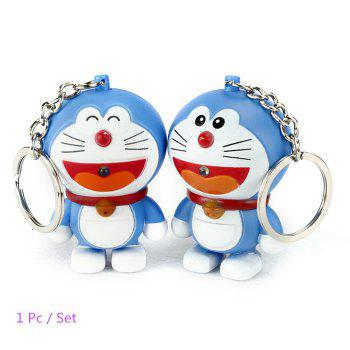 ABS Cat Style Key Chain Hanging Pendant Movie Product Voice Light Control Key Bag Decoration - COLORMIX COLORMIX
