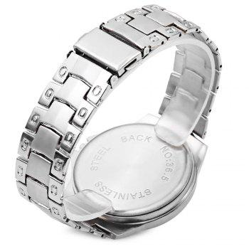 Quartz Men's Watch with 4 Arabic Numbers 8 Rectangle Indicate Steel Watchband and Luminous Pointer -  SILVER