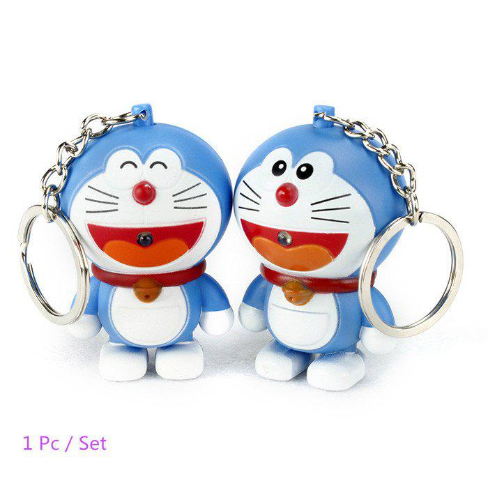 ABS Cat Style Key Chain Hanging Pendant Movie Product Voice Light Control Key Bag Decoration - COLORMIX