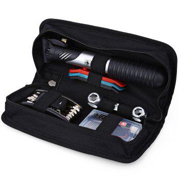 DUUTI Multipurpose Mountain Bike Repair Set All in One Hand Tool Kit Mini Portable Pump - BLACK