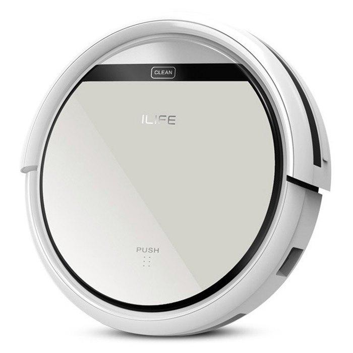 ILIFE V5 Intelligent Robotic Vacuum Cleaner LCD Touch Screen Self-charge HEPA Filter Sensor Remote Control Robot Aspirador - SILVER CHINESE PLUG