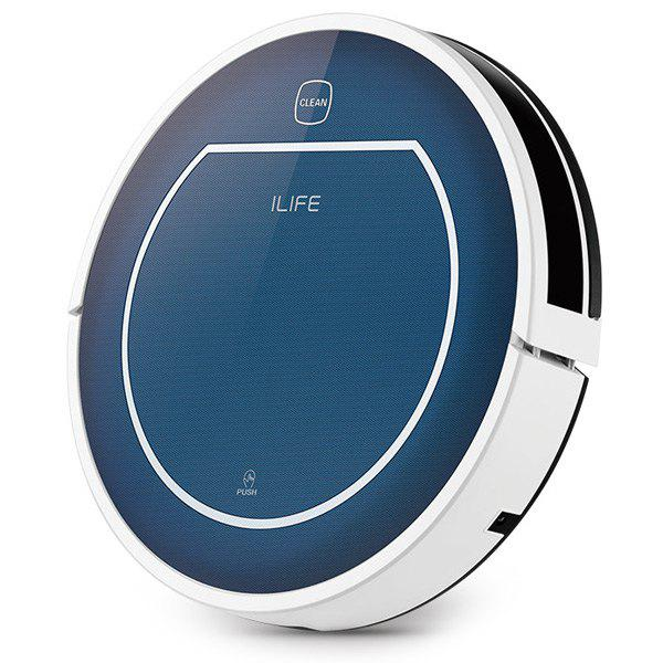 ILIFE V7 Smart Mute Sweeping Robot Automatic Rechargeable Vacuum Cleaner Remote Controlled Dust Cleaning Machine - BLUE