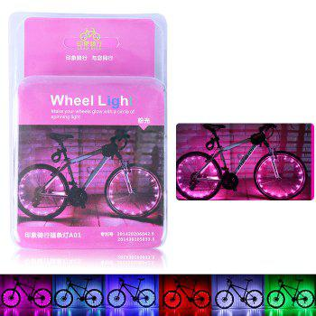 LEADBIKE A01 2 Modes 20 LED Water Resistant Bicycle Spoke Light - PINK PINK