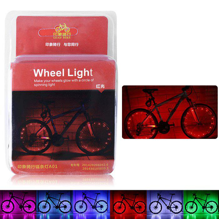 LEADBIKE A01 2 Modes 20 LED Water Resistant Bicycle Spoke Light - RED