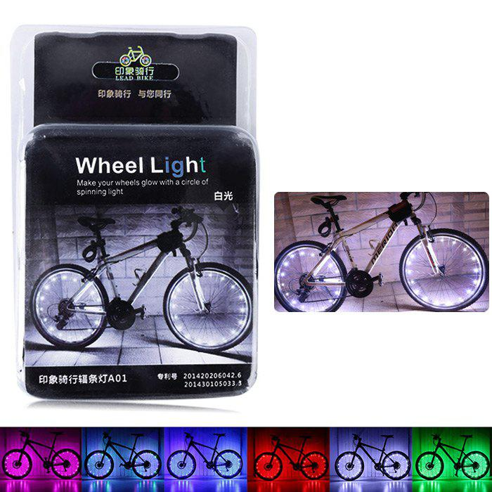 LEADBIKE A01 2 Modes 20 LED Water Resistant Bicycle Spoke Light - WHITE