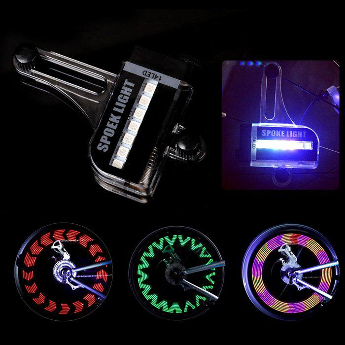 LEADBIKE A02 14 LED Bicycle Spoke Light IPX5 Waterproof GradeHome<br><br><br>Color: BLACK
