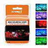 LEADBIKE A106 Bicycle Spoke Light 12RGB LED 8 Modes Spoke Light - WHITE CHARGING TYPE