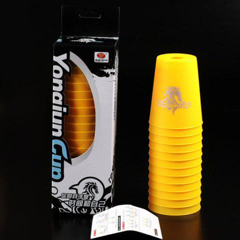 YONGJUN Moyu Sport Stacking Competition Sport Game Toy 12 / Set - YELLOW