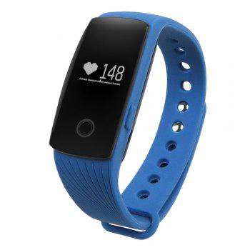ID107 Smart Watch with Heart Rate Monitor Pedometer Remote Camera Function - BLUE BLUE