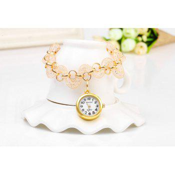 JUBAOLI 1109 Bracelet Female Quartz Twisted Stainless Steel Band Round Dial - GOLDEN