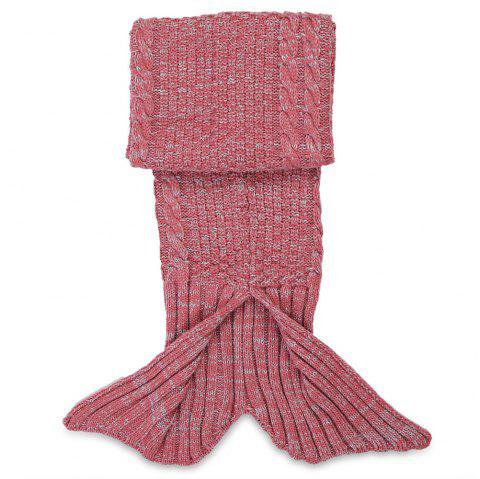 Crocheted / Knitted Mermaid Tail Style Blanket - RED KID
